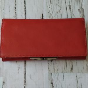 ⭐Danier Leather Red Wallet